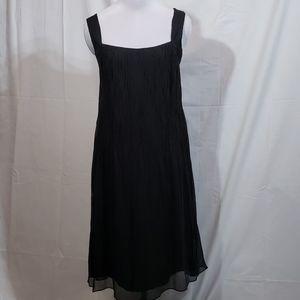 NWOT Eileen Fisher Black Chiffon Tank Dress Small